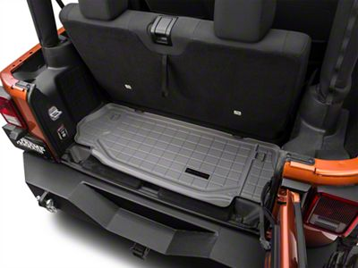 Weathertech DigitalFit Cargo Liner - Gray (07-18 Jeep Wrangler JK 2 Door)