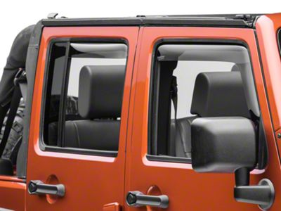 Weathertech Front & Rear Side Window Deflectors - Dark Smoke (07-18 Jeep Wrangler JK 4 Door)