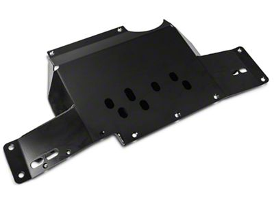 Synergy Heavy Duty Transmission Skid Plate - Black Powder Coated (07-18 Jeep Wrangler JK)