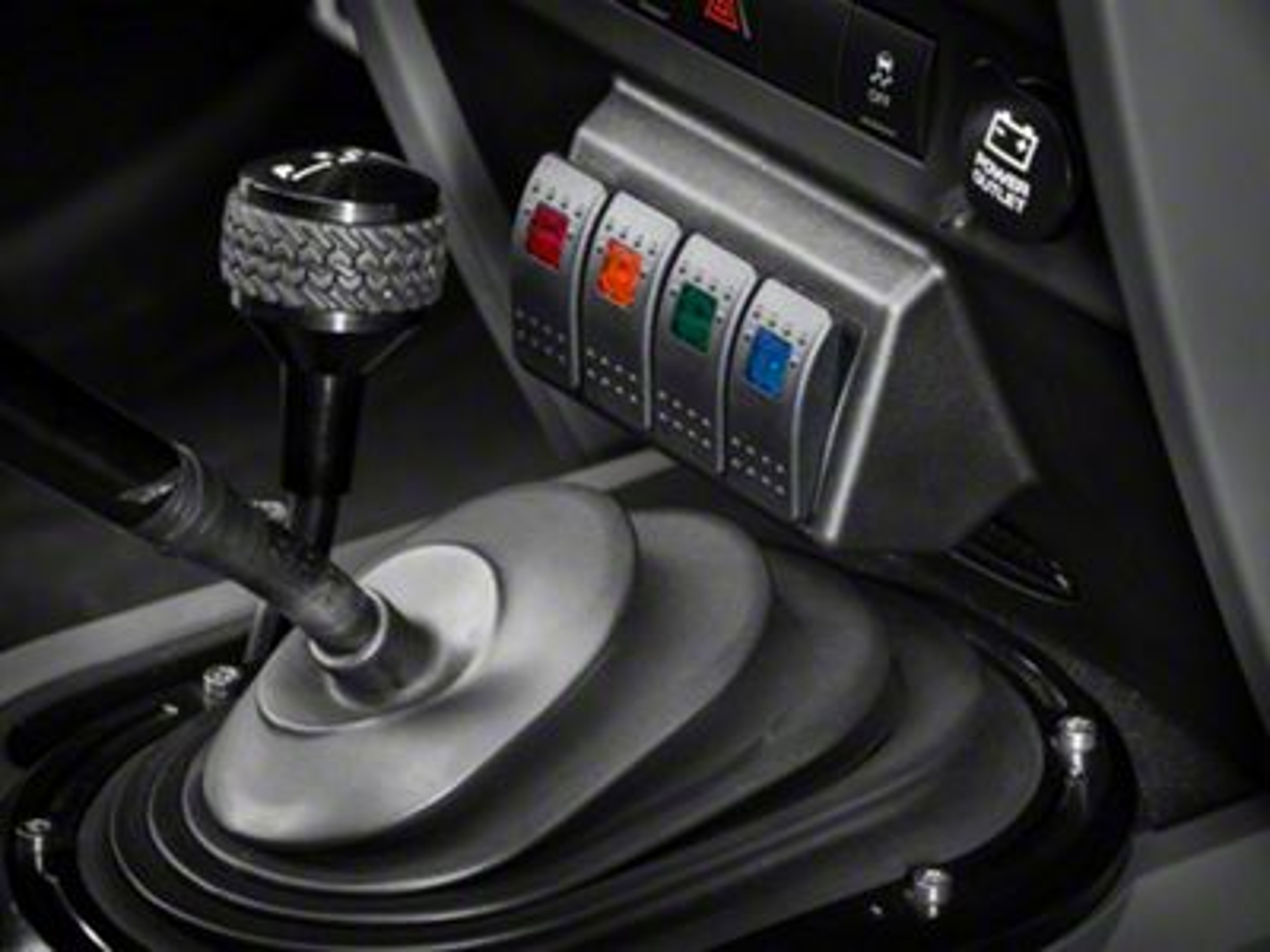 Dash Switch Panel - Lower (07-10 Jeep Wrangler JK)