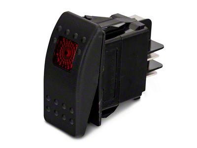 Daystar Rocker Switch - Red Light (87-18 Jeep Wrangler YJ, TJ, JK & JL)