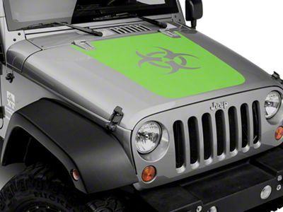 Bio Hazard Hood Decal - Green (07-18 Jeep Wrangler JK)