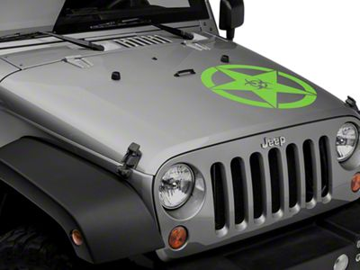 Bio Hazard Star Decal Set - Green (87-18 Jeep Wrangler YJ, TJ, JK & JL)