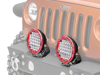ARB Intensity 9.5 in. Round 32 LED Light - Flood Beam (87-18 Jeep Wrangler YJ, TJ, JK & JL)