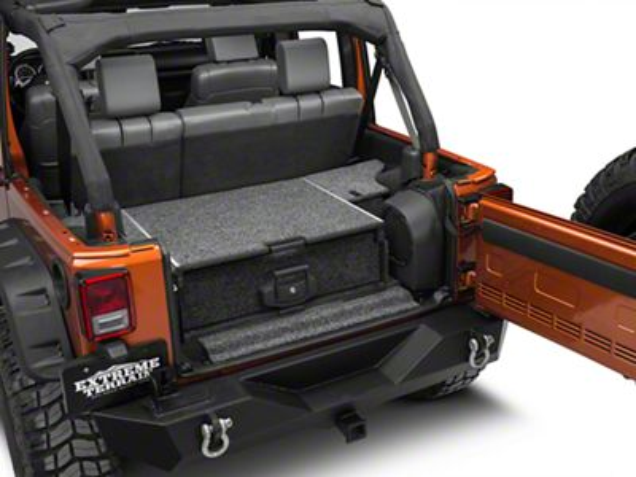 ARB Roller Drawer w/ Roller Floor System (07-18 Jeep Wrangler JK 4 Door w/ Plastic Trim & Sub Woofer)