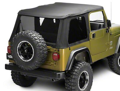 Bestop Trektop NX Soft Top - Black Twill (97-06 Jeep Wrangler TJ, Excluding Unlimited)