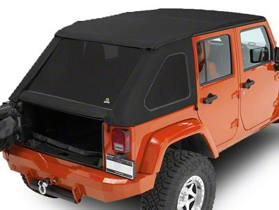 Bestop Trektop NX Soft Top - Matte Black Twill (07-18 Jeep Wrangler JK 4 Door)