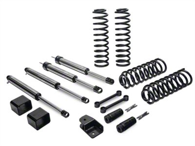 Fabtech 3 in. Budget Lift System w/ Dirt Logic Shocks (07-18 Jeep Wrangler JK 2 Door)