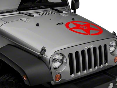 Bio Hazard Star Decal - Red (87-19 Jeep Wrangler YJ, TJ, JK & JL)