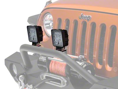 Hella Optilux Close Range LED Worklamp - Square (87-18 Wrangler YJ, TJ & JK)
