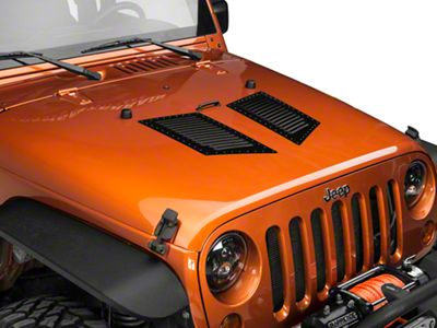 RedRock 4x4 Medium Hi-Flow Louvers - Semi-Gloss w/ Black Rivets (87-18 Jeep Wrangler YJ, TJ, JK & JL)