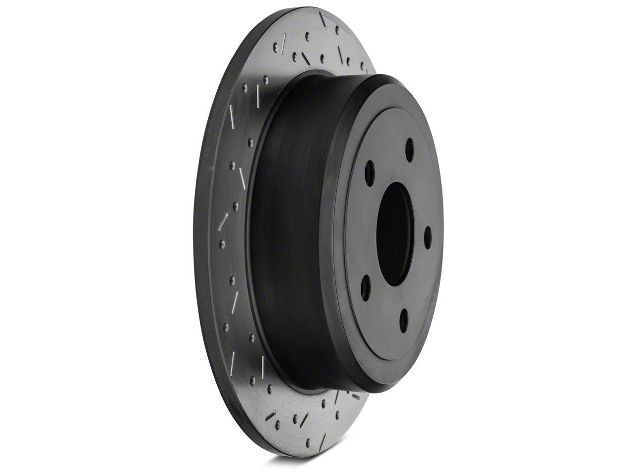 DBA XS 4000 Series Drilled/Slotted Rotor - Black Hub - Rear Pair (07-12 Jeep Wrangler JK)