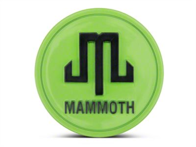 Mammoth Lime Green Center Cap (87-18 Jeep Wrangler YJ, TJ, JK & JL)