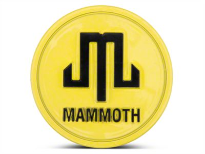 Mammoth Yellow Center Cap (87-18 Jeep Wrangler YJ, TJ, JK & JL)