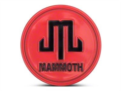 Mammoth Red Center Cap (87-19 Jeep Wrangler YJ, TJ, JK & JL)