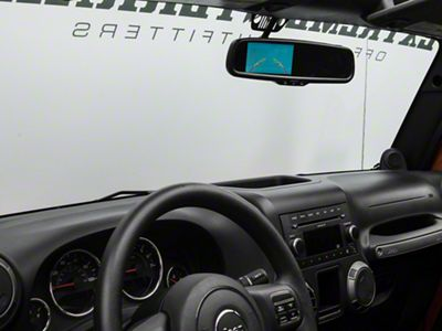 Raxiom Auto-Dimming 3.5 in. Rearview Mirror w/ Backup Camera (07-18 Jeep Wrangler JK)