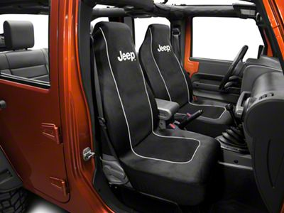 Alterum Jeep Logo Embroidered Seat Cover (87-18 Jeep Wrangler YJ, TJ & JK)