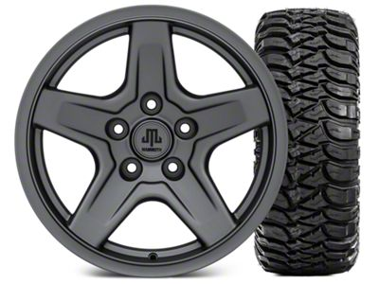 Mammoth Boulder Charcoal Wheel - 17x9 and Mickey Thompson Baja ATZP3 265/70-17 (07-18 Jeep Wrangler JK)