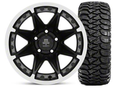 Mammoth Type 88 Matte Black 15x8 Wheel & Mickey Thompson Baja MTZ 33X12.50R15 Tire Kit (87-06 Jeep Wrangler YJ & TJ)