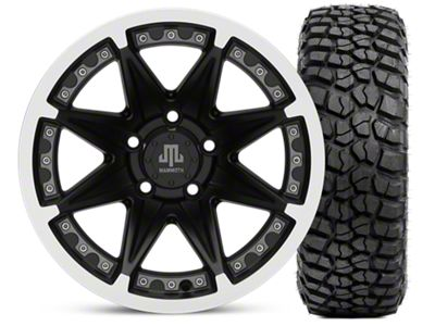 Mammoth Type 88 Matte Black 15x8 Wheel & BFG KM2 33x10.5- 15 Tire Kit (87-06 Jeep Wrangler YJ & TJ)