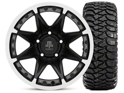 Mammoth Type 88 Wheel - Matte Black Wheel - 16x8 Wheel - and Mickey Thompson Baja MTZ 315/75-16 (07-18 Jeep Wrangler JK)