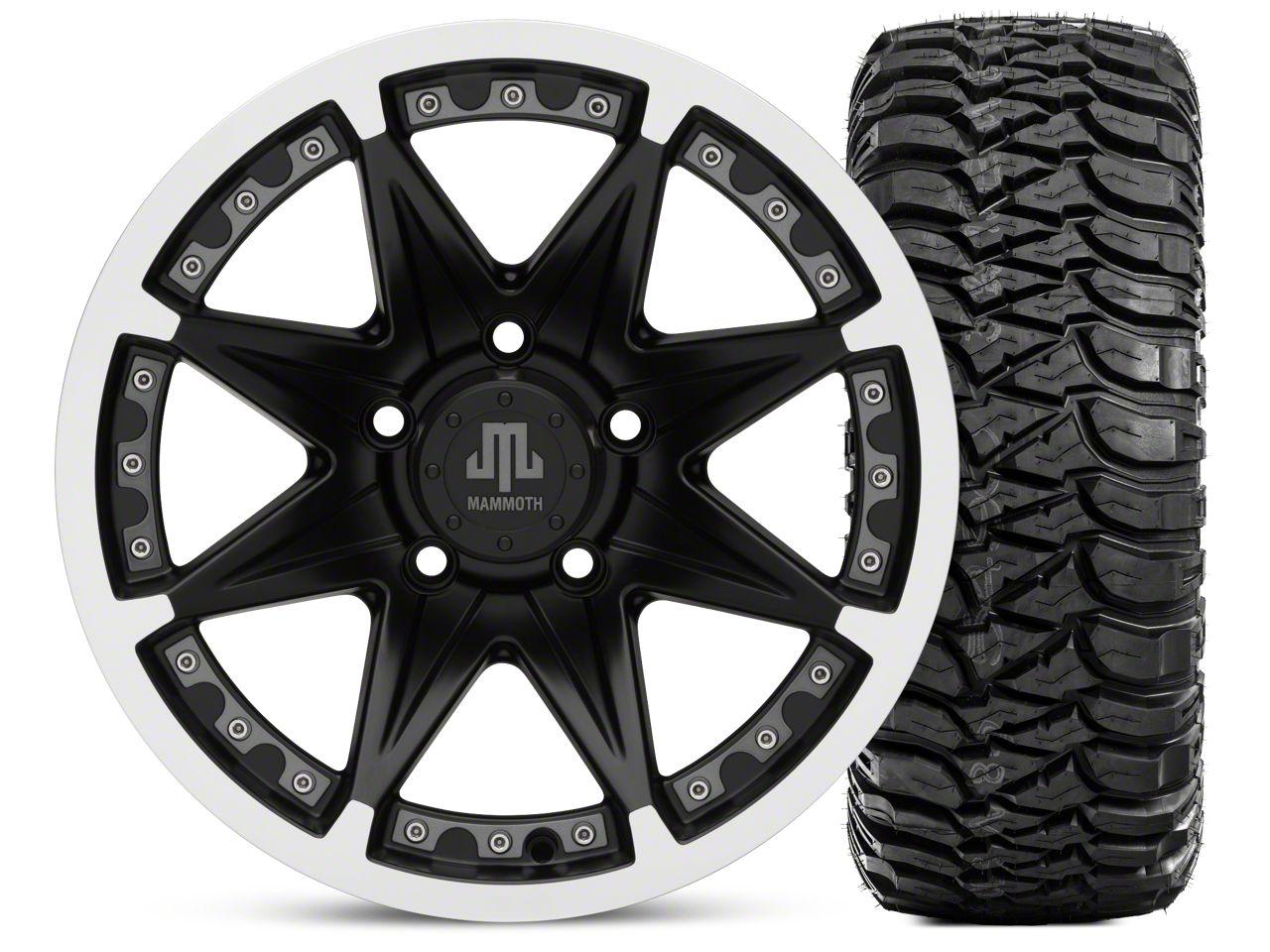 Mammoth Type 88 Wheel - Matte Black Wheel - 16x8 Wheel - and Mickey Thompson Baja MTZ 315/75-16 (07-18 Jeep Wrangler JK)