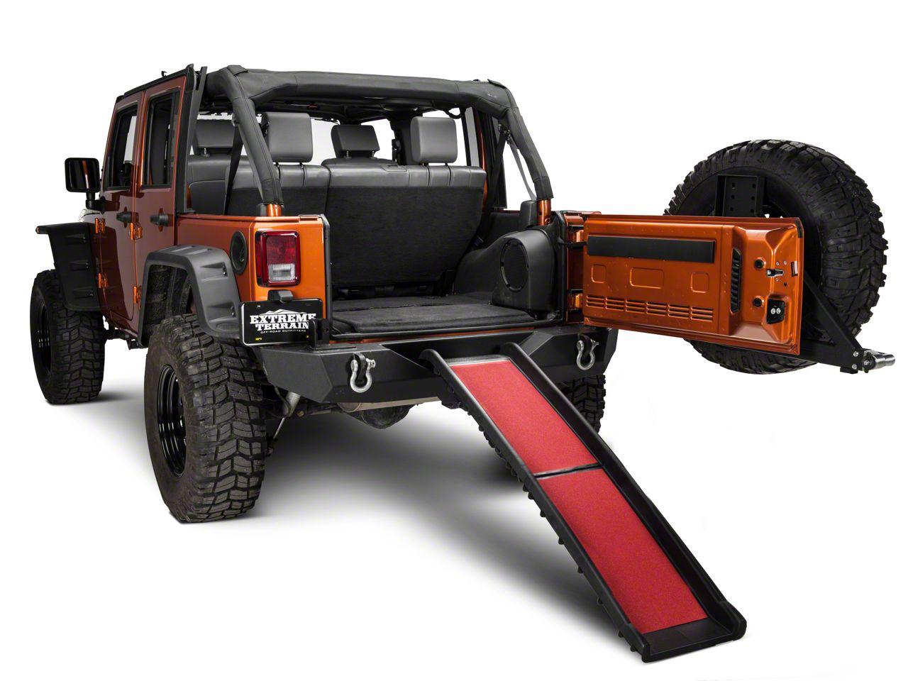 Kurgo Non-Slip Pet Ramp (87-18 Jeep Wrangler YJ, TJ, JK & JL)