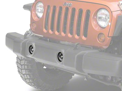 Recon Smoked 4 in. LED Fog Lights (07-18 Jeep Wrangler JK)