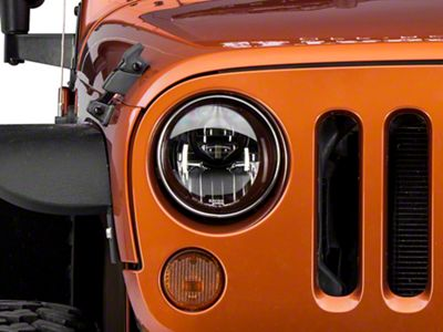 Recon Smoked LED Projector Headlights (07-18 Jeep Wrangler JK)