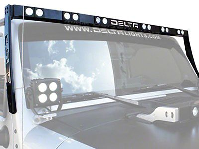 Delta LED SILO Skybar - Black (97-18 Jeep Wrangler TJ & JK)