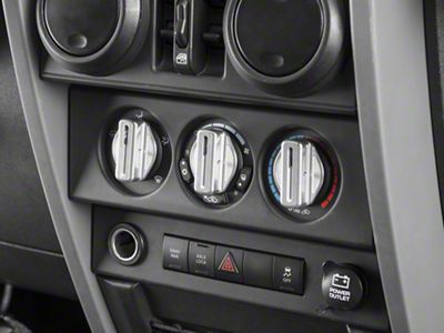 Drake Off Road Billet Climate Control Knobs (07-10 Jeep Wrangler JK)