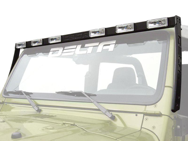 Delta Aluminum HID Skybar - Silver (97-06 Jeep Wrangler TJ)