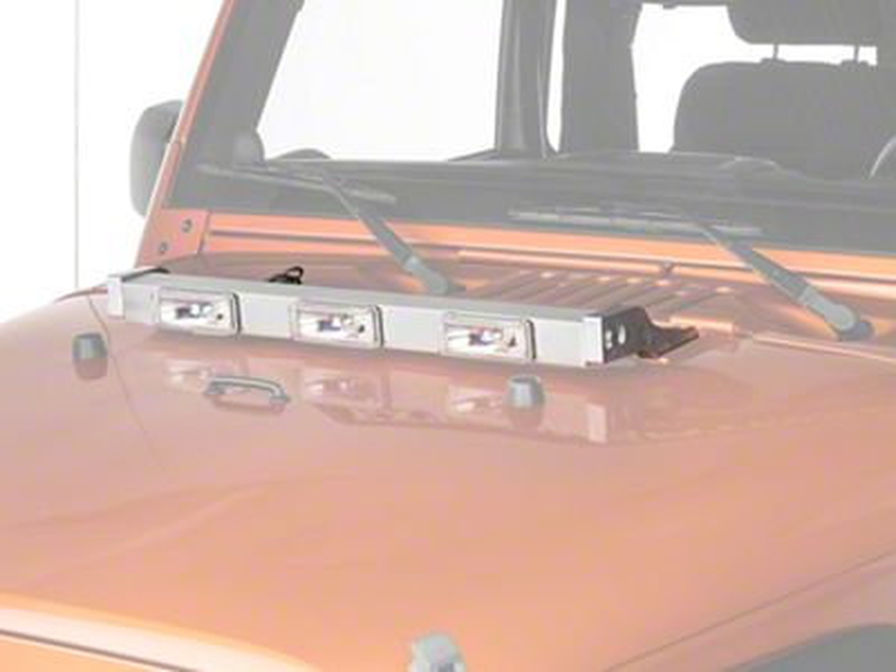 Delta Aluminum Xenon Hood Light Bar - Silver (97-11 Jeep Wrangler TJ & JK)