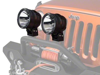 Vision X 6.7 in. LED Cannon - 2,500 ft. Range - Spot Beam - Pair