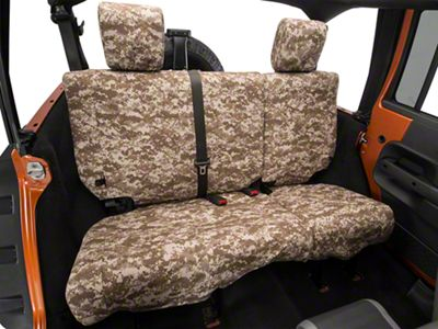 Caltrend Desert Camouflage Rear Seat Cover - Reclining 40/60 Split Bench (07-10 Jeep Wrangler JK 4 Door)