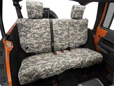 Caltrend Forest Camouflage Rear Seat Cover - Reclining 40/60 Split Bench (07-10 Jeep Wrangler JK 4 Door)