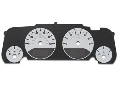 US Speedo Daytona Gauge Face Kit - White / Blue Night (07-18 Jeep Wrangler JK)