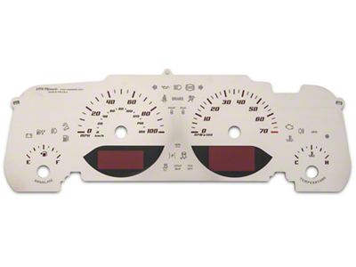 US Speedo Stainless Steel Gauge Face Kit - Red (07-18 Jeep Wrangler JK)