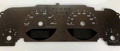 US Speedo Stainless Steel Stealth Gauge Face Kit (07-18 Jeep Wrangler JK)