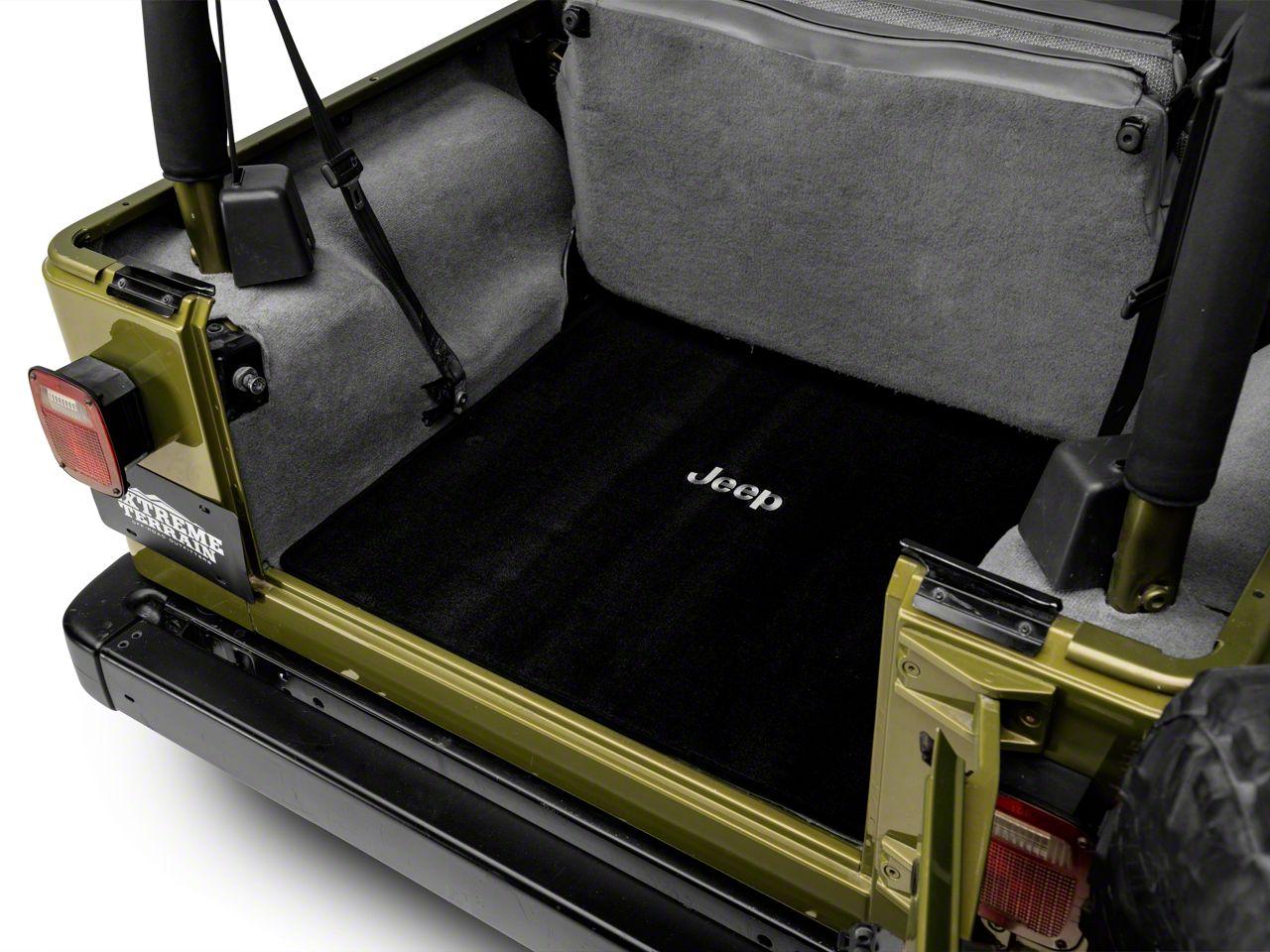 Lloyd Ultimat Black Cargo Mat - Jeep Logo (97-06 Jeep Wrangler TJ)