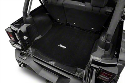 Lloyd Ultimat Cargo Mat w/ Jeep Logo - Black (11-18 Jeep Wrangler JK 4 Door)