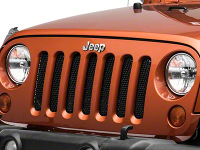 Rugged Ridge Perforated Grille Insert - Black (07-18 Jeep Wrangler JK)