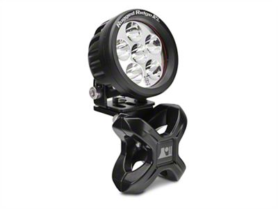 Rugged Ridge Black X-Clamp for 1.25-2 in. Tubing & 3.5 in. Round LED Light Kit