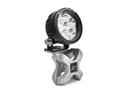 Rugged Ridge Silver X-Clamp for 1.25 in. Tubing & 3.5 in. Round LED Light Kit
