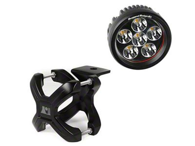 Rugged Ridge Black X Clamp for 2.25-3 in. Tubing & 3.5in Round LED Light Kit
