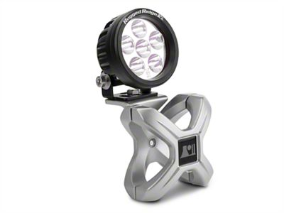 Rugged Ridge Silver X Clamp for 2.25-3 in. Tubing & 3.5in Round LED Light Kit