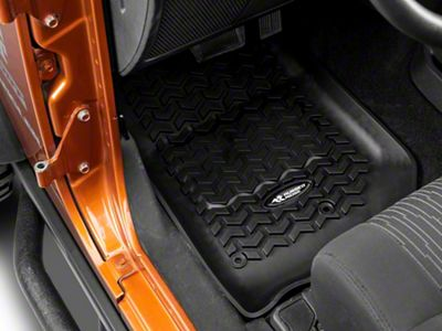 Rugged Ridge All Terrain Front, Rear & Cargo Floor Liners - Black (11-18 Jeep Wrangler JK 2 Door)