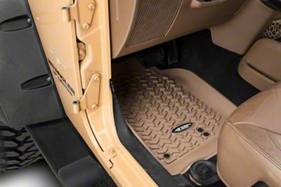 Rugged Ridge All Terrain Front, Rear & Cargo Floor Liners - Tan (07-10 Jeep Wrangler JK 4 Door)