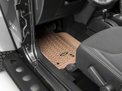 Rugged Ridge All Terrain Front, Rear & Cargo Floor Liners - Tan (11-18 Jeep Wrangler JK 2 Door)