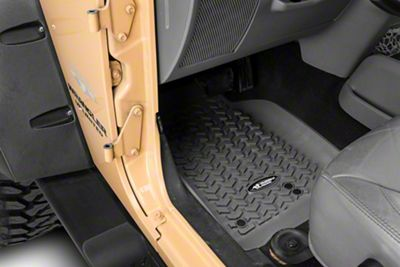 Rugged Ridge All Terrain Front, Rear & Cargo Floor Liners - Gray (07-10 Jeep Wrangler JK 4 Door)
